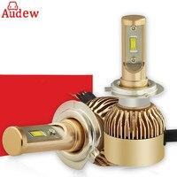 2Pcs Car LED Headlight Lamp H4 H7 H1 10V 30V CSP Fog Light 72W LED Headlights