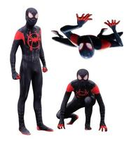 High Quality Adult Children Mens Halloween Black Spiderman Cosplay Costumes Venom Lycra Zentai SuperHero Spidey Suit