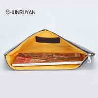 SHUNRUYAN 2019 new quality bag day with hand bag female casual zipper lady bag envelope clutch bag