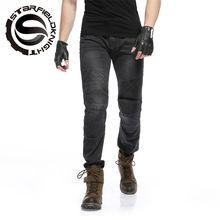 Men's Motorbike Motocross Off-Road Knee Protective Moto Jeans Trousers Windproof Motorcycle Racing Jeans Casual Pants SKP702