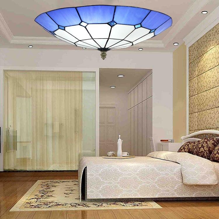 Mittelmeer Barock E27 110 240 V Tiffany Retro Deckenleuchten Luminaria Teto Fr Dekoration