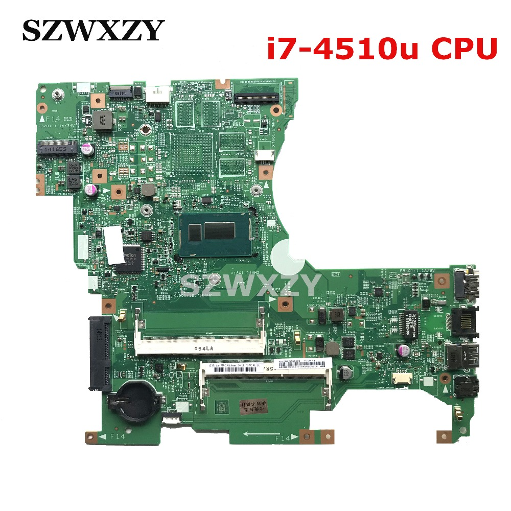 For Lenovo Flex2-14 Laptop Motherboard 13281-1 448.00X01.0011 FRU 5B20G36430 With SR1EB i7-4510u CPU Full Tested Free Shipping