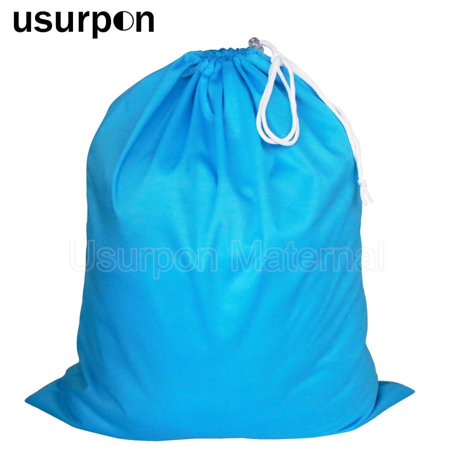 [usurpon]1 pc Big size 50*60cm drawstring bag and waterproof travel wet bag single pocket pail liner bag wholesale