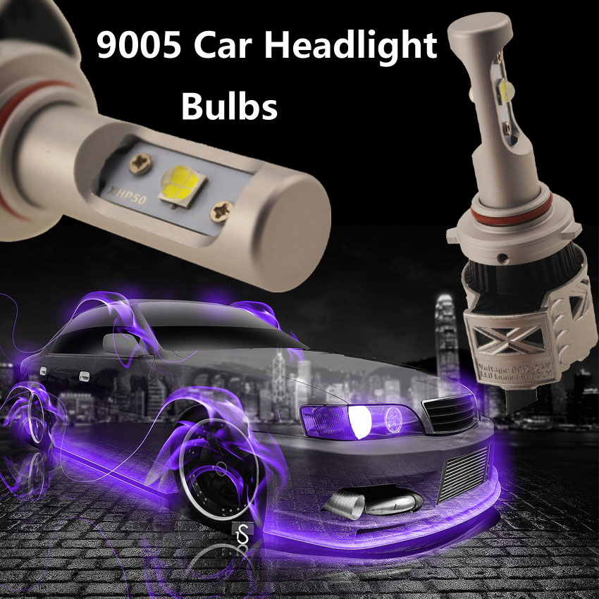 1pair 9005 LED Car Headlight Kit Conversion Canbus Bulbs 72W XHP50 Chip 12000LM 6500K Xenon White 12V 24V 2pcs 60w 6 000lm h11 h9 h8 cree led chip headlight bulbs conversion kit diy your color replaces bulbs d035