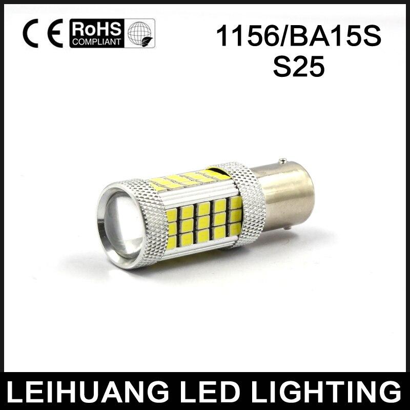 1X 1156 P21W BA15S S25 63smd LED BLUE/GREEN/ICE BLUE/PINK/RED/WHITE/YELLOW Auto Brake Light Car Backup Reverse Lights