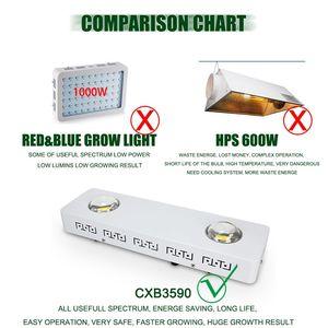 Image 5 - CREE CXB3590 100 ワット 200 ワット Cob は、光フルスペクトル 26000LM = HPS 400 ワット成長ランプ屋内テント水耕植物成長
