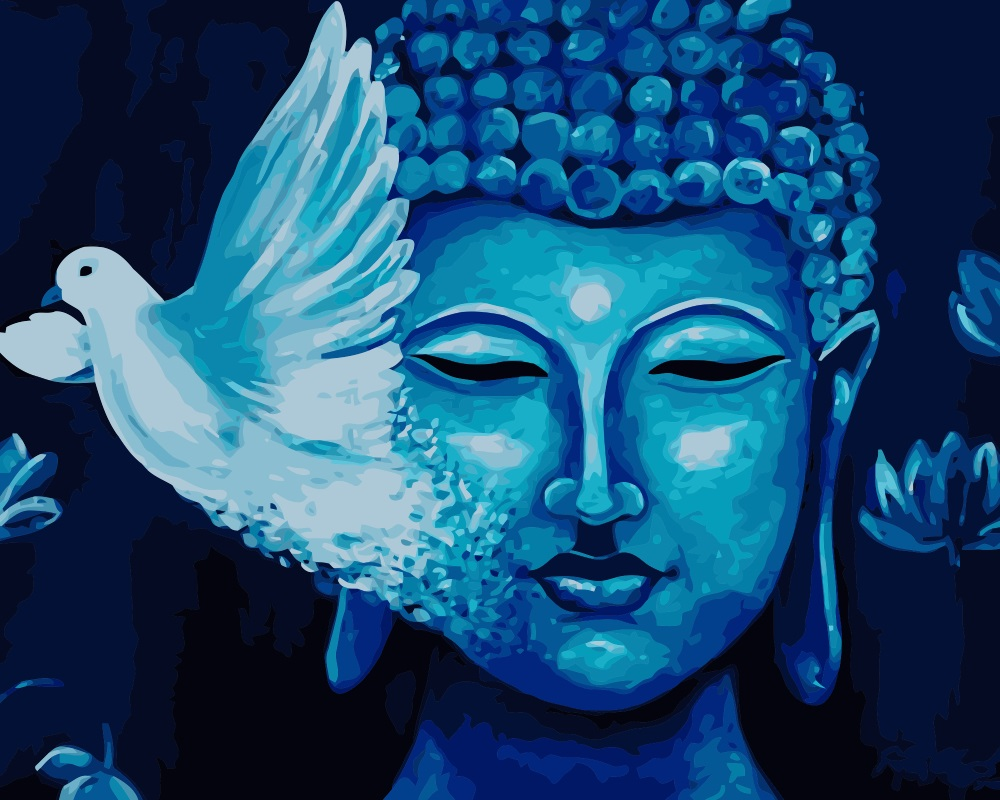 Aliexpress.com : Buy MaHuaf j001 bird Buddha Painting Coloring by ...