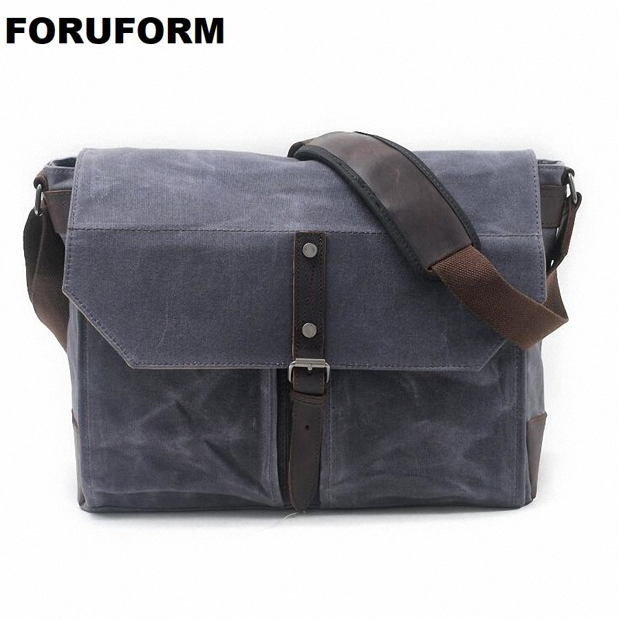 Business Bag Men 16inch Laptop Bag Vintage Messenger Bags High Quality Casual Tote Waterproof Canvas Travel Shoulder Bag LI-1880 high quality men canvas bag vintage designer men crossbody bags small travel messenger bag 2016 male multifunction business bag