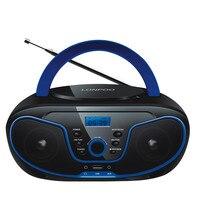 LONPOO CD Speaker Mini Portable Bluetooth MP3 Speaker Multimedia USB FM Radio Wireless Boombox Earphone AUX Stereo Speaker