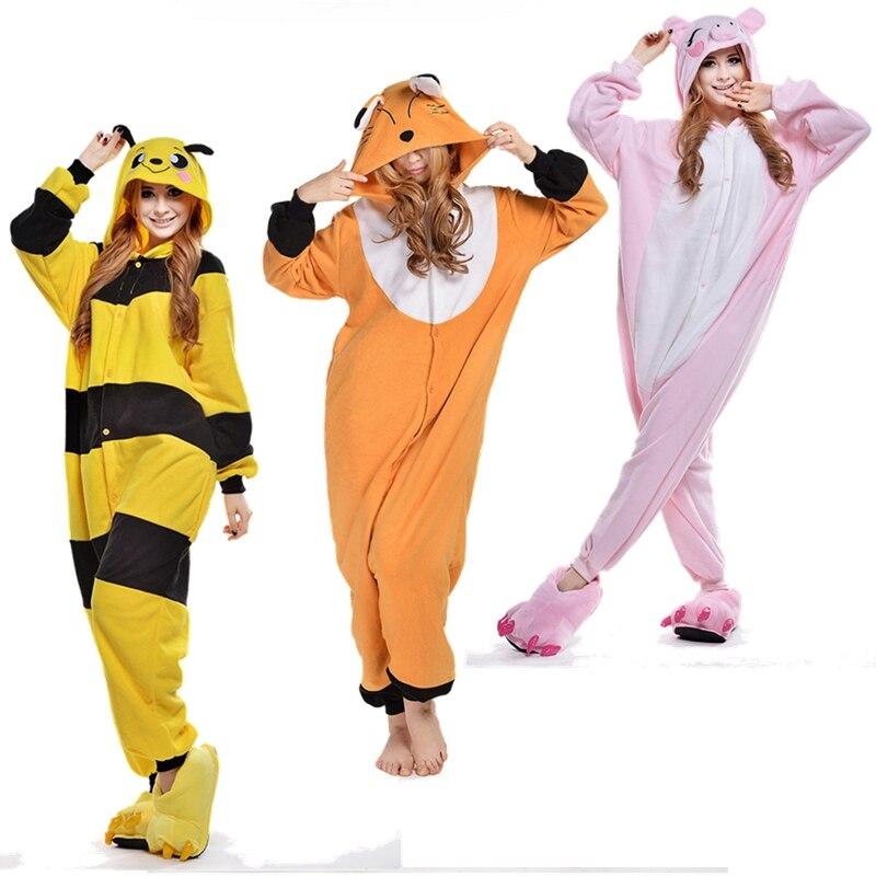 Unicorn Panda Care Bear Cheshire Cat Fox Bee Onesie Animal Pijama Pajamas Pyjamas Suit Sleepwear For Men Womens Pajamas