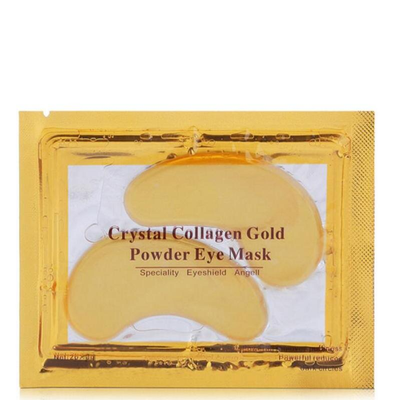 100pcs = 50packs Collagen Eye Patch Moisurizing Eye Mask Anti Aging Anti Puffiness Dark Circles 24k Gold Mask for Eyes Skin Care