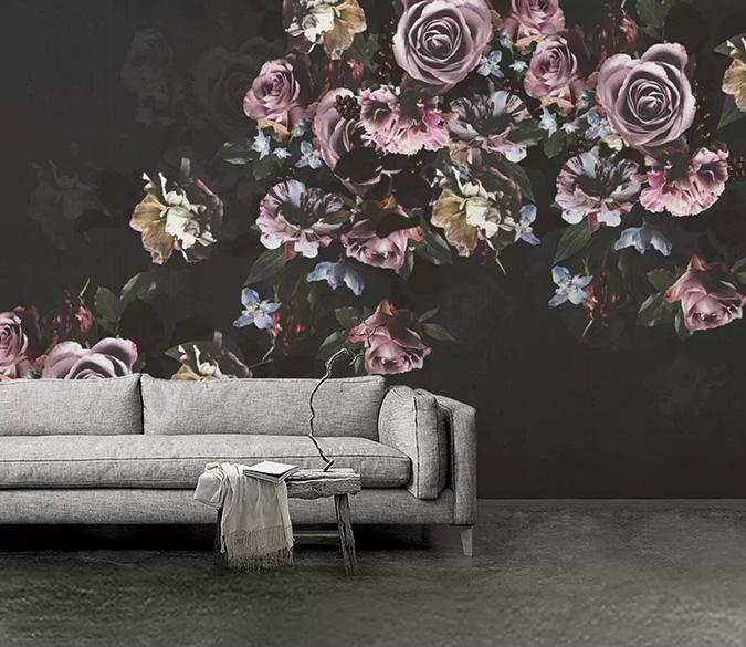 [Self-Adhesive] 3D Retro Color Flower Poster 22 Wall Paper Mural Wall Print Decal Wall Murals