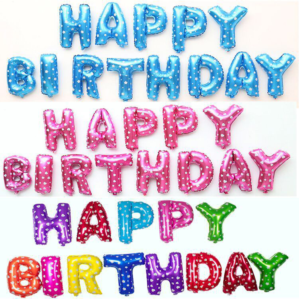 Aliexpress.com : Buy 13pcs/lot Colorful Letter HAPPY BIRTHDAY ...