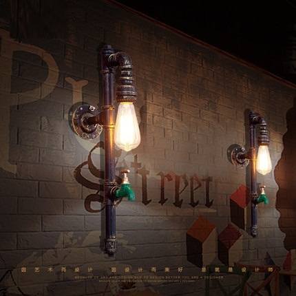 Retro Loft Style Iron Water Pipe Lamp Edison Wall Sconce RH Industrial Vintage Wall Light Fixtures For Home Indoor Lighting все цены