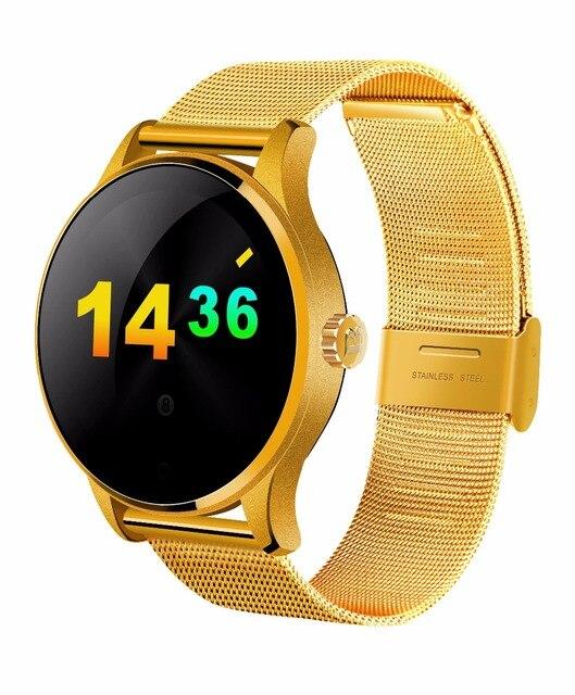 K88H Смарт Часы 1.22 Дюймов IPS Круглый Экран Поддержка Монитор Сердечного ритма Bluetooth smartWatch Для apple huawei IOS/Android