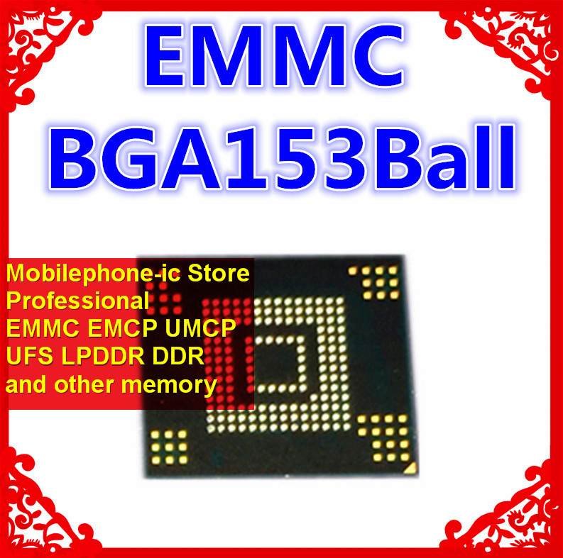 KE4CV4H5A BGA EMMC 16GB Mobilephone Memory New original and Second hand Soldered Balls Tested OK Cable Winder     - title=