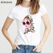Vogue Summer T shirt women Tropical Hipster Girl Printed T-Shirt femme Cool Casual Tops Tees tumblr tshirt camiseta mujer