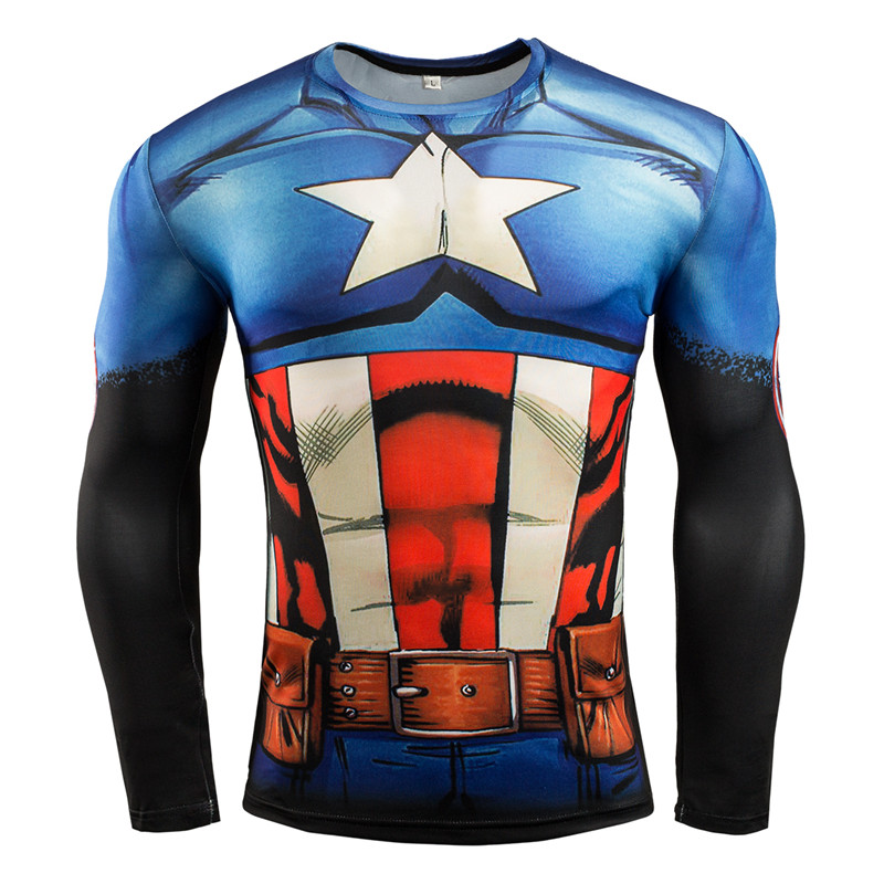 7a8780b60d Férfi kompressziós ing Superhero Superman Capitan America Iron Man ...