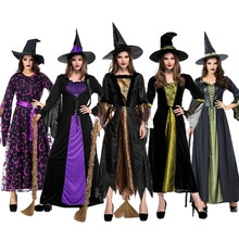 Halloween Costumes Adult Womens Deluxe Noble Sexy Purple Swallowtail Witch Costume Suit Fancy Dress Cosplay for Women