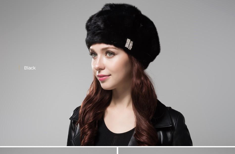 mink fur hat female winter PCM027 (17)