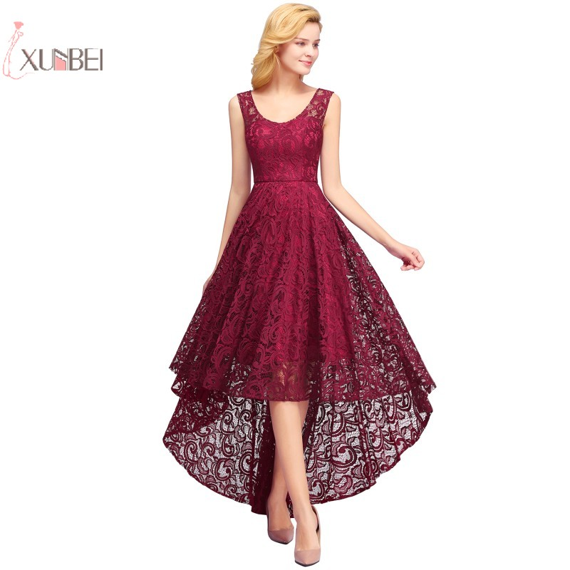 2019 Burgundy Navy Blue Pink Vintage Lace Short Party   Cocktail     Dresses   Plus Size Sleeveless Swing robe   cocktail   1150