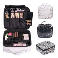 Women Makeup Travel Cosmetic Bags Brush Pen Pencil Case Organizer Pouch Holder Bag PU Leather Fashion Makeup Bag 2019
