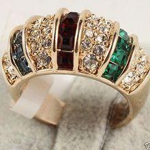 >>>> Ювелирные изделия кристалл кольца размер 7#8# A1234