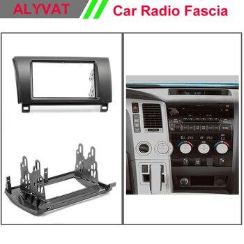 Alta calidad coche Autoradio Fascia para TOYOTA Tundra Sequoia 2007 + 2-DIN marco estéreo Dash CD ajuste instalación kit de