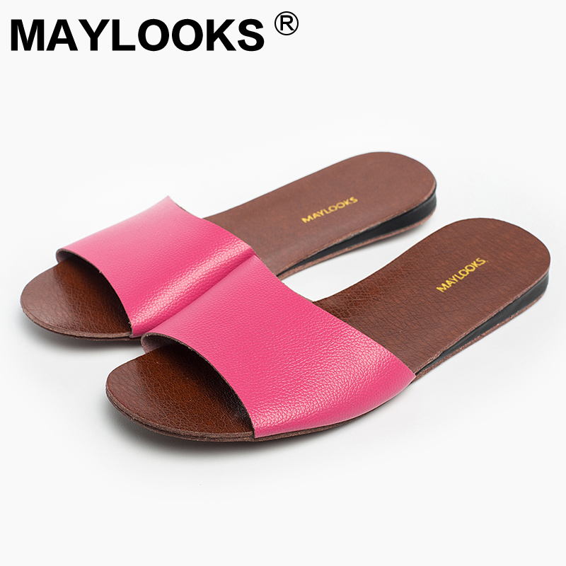 Ladies Slippers Spring And Summer Pu Home Indoor Slip Non