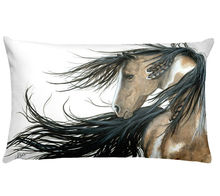 Modern Art Animal Printed Square Pillowcase Running Horse Cushion Decorative Pillow Home Pillow Decoration Sofa Throw Pillows