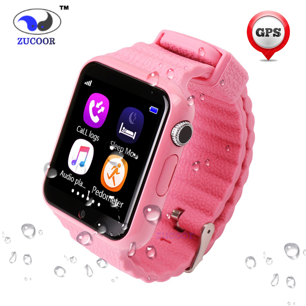 цена GPS Saft Tracker Smart Watch V7k For iOS Android Kids Location Children Baby Support SIM TF Card Safe Anti-lost Monitor Child