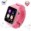 Gps tracker smart watch v7k saft para ios android crianças localização crianças sim apoio tf cartão seguro anti-perdido do monitor do bebê criança