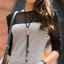 Long Sweater Female Long Necklace