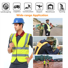 Reflective M/L/XL Vest Safety Security Visibility 3DTridimensional Tailoring Permeable Yellow Jacket Construction Traffic Worker