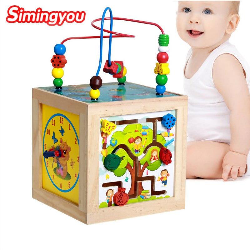 Simingyou Brinquedos Многофункциональный мудрость коробка jeux EN Буа educatif Буа D10-E24 Прямая доставка
