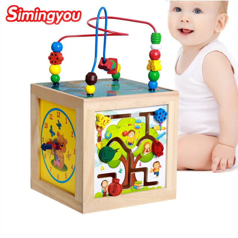 Simingyou Brinquedos Multi-functional Wisdom Box Jeux En Bois Educatif Bois D10-E24 Drop Shipping