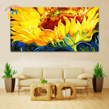 50*100 large coloring by numbers wall picture for living room decorative canvas oil painting by numbers sunflowers drawing DY15