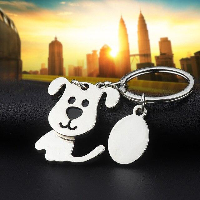1 peça Criativa Engraçado Agradável Movendo Cão Adorável Keychain Keyring do Anel Chave Fob Titular