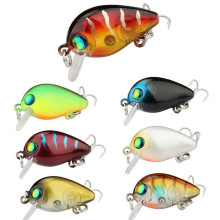Купить с кэшбэком Fishing Lures 7 Colors Crank Minnow Lure 3cm/2g Hard Baits Bass Crankbait Wobblers Fishing bait Treble Hooks Tackle