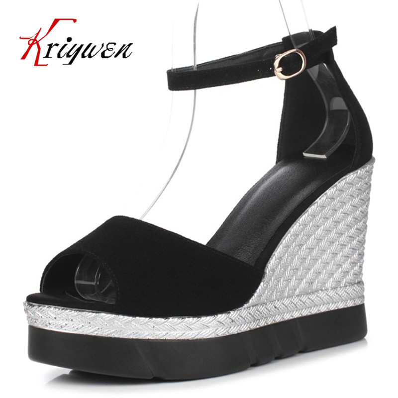 2017 Summer sexy ladies peep toe party sandals wedges kid suede high heels sandals concise female mature bride wedding shoes zorssar brand 2017 high quality sexy summer womens sandals peep toe high heels ladies wedding party shoes plus size 34 43
