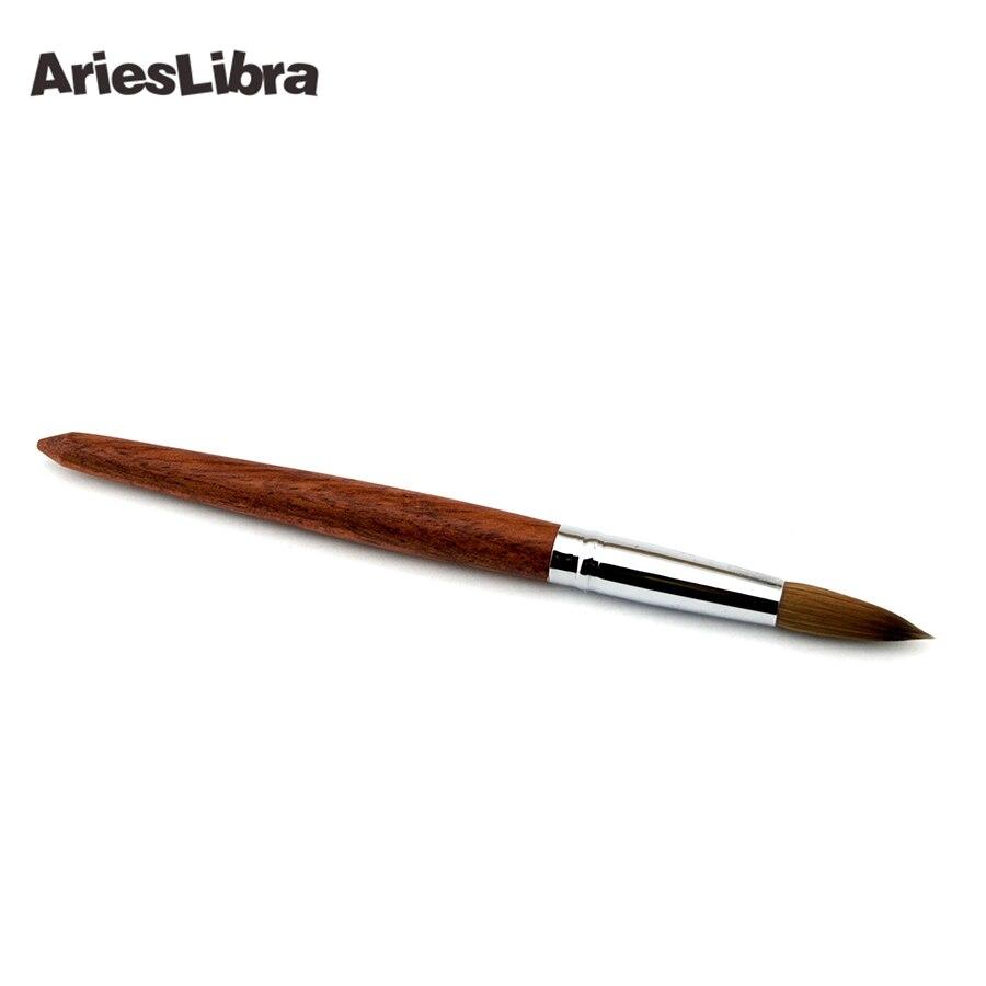 5 pièces/ensemble 20 # 100% Konlinsky Sable acrylique Nail Art constructeur brosse spirale Gel stylo conseils Kit d'outils professionnel ongles outils