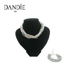 Dandie trendy handmade necklace and bracelet set with matel chain design for women,fashion jewelry