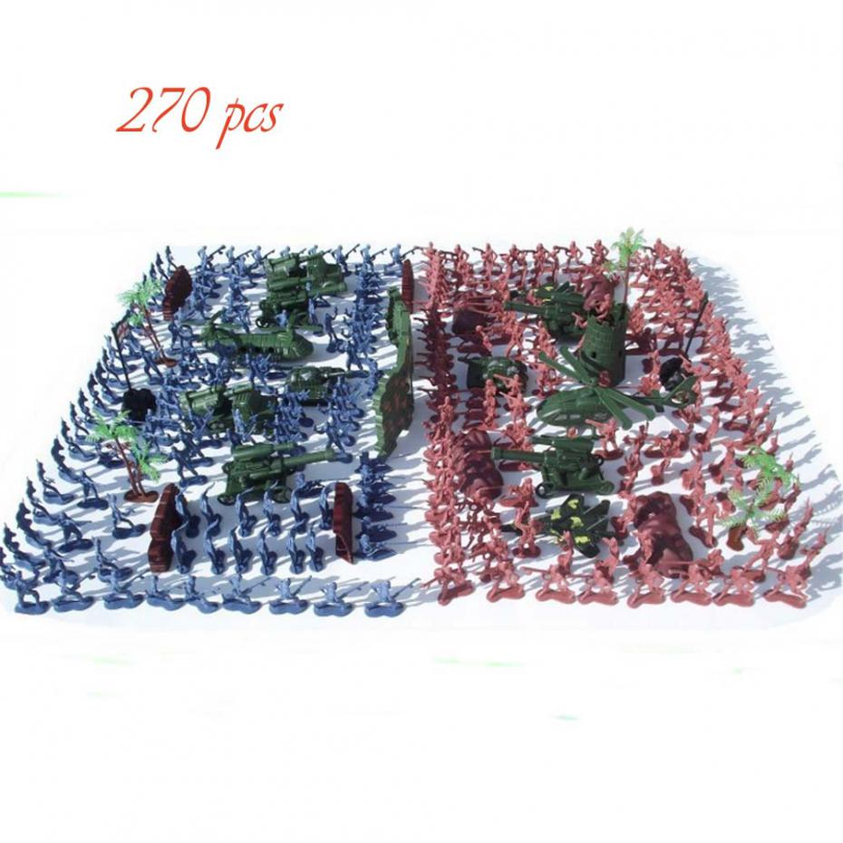 270Pcs Military Soldiers Toy Kit Army Men Figures /& Accessories Model For Sand B