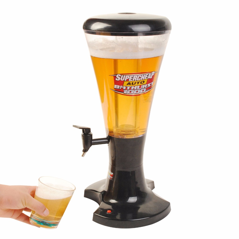 3L distributeur de tour de bière à tirage froid en plastique avec LED lumières nouveau KC25944-5