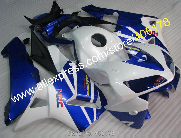 Горячие продаж,для Honda CBR600RR ЦБ РФ 600 РР клавишу F5 2005 2006 05 06 CBR600 600RR синий белый мотоцикл обтекатель комплект (литья под давлением)