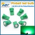200 UNIDS #555 Blanco Super Brillante * 6.3 voltios 1 Lámpara W5W LED Bombilla Máquina de Pinball No imágenes fantasma/anti parpadeo