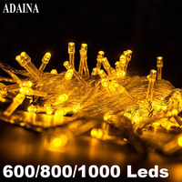 100M 1000 LEDs Outdoor Waterproof LED Lamp Garden Light Copper Wire String Light Fairy Lamp Wedding