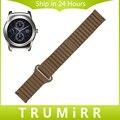 22 мм Из Натуральной Кожи Ремешок Для Часов Магнитный Пряжка Ремень для LG G часы Вежливый W100 W110 W150 Quick Release Группа Запястье Ремень браслет