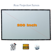 Yovanxer High Brigtness Rear Projector Screen 200 Inches Large HD Behind Projection Screens For LED LCD