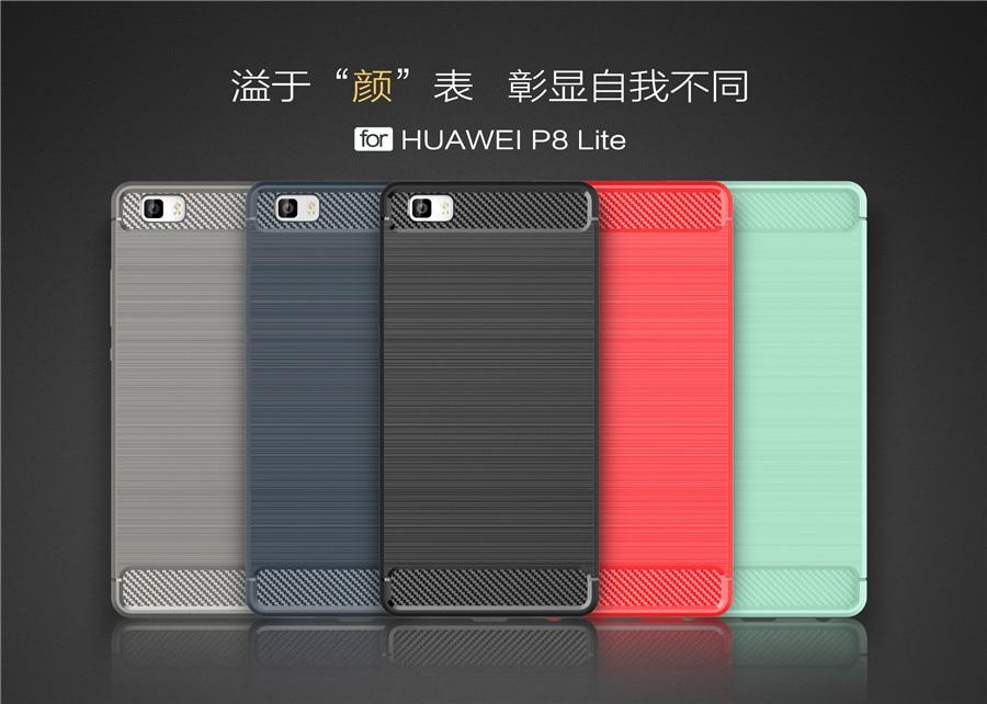 Untuk Huawei P8 Lite Kasus Silikon Lembut Kasus Ponsel Perlindungan - Aksesori dan suku cadang ponsel - Foto 3
